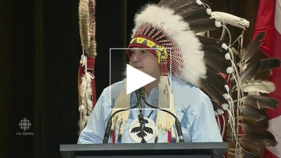 AFN NationalChiefPerryBellegarde video cbc