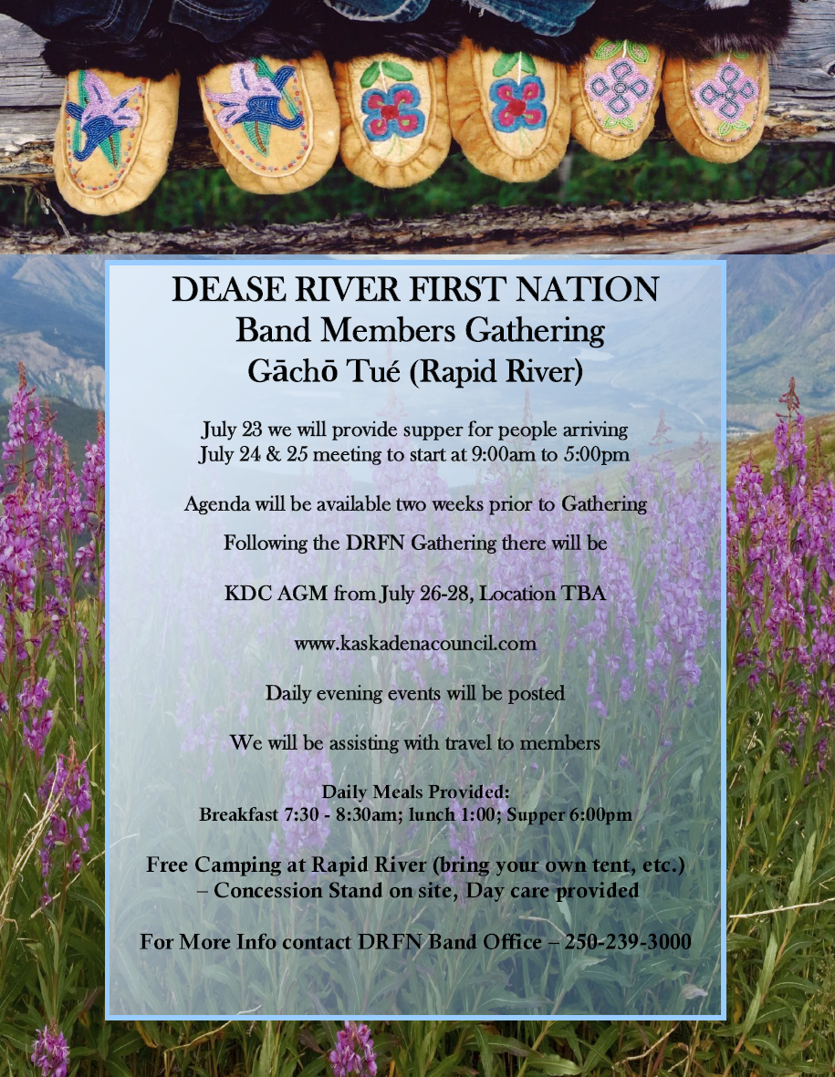 Dease River First Nation Band Members Gathering 2017 Poster