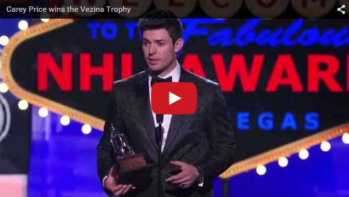Carey Price NHL Awards 2015, speech