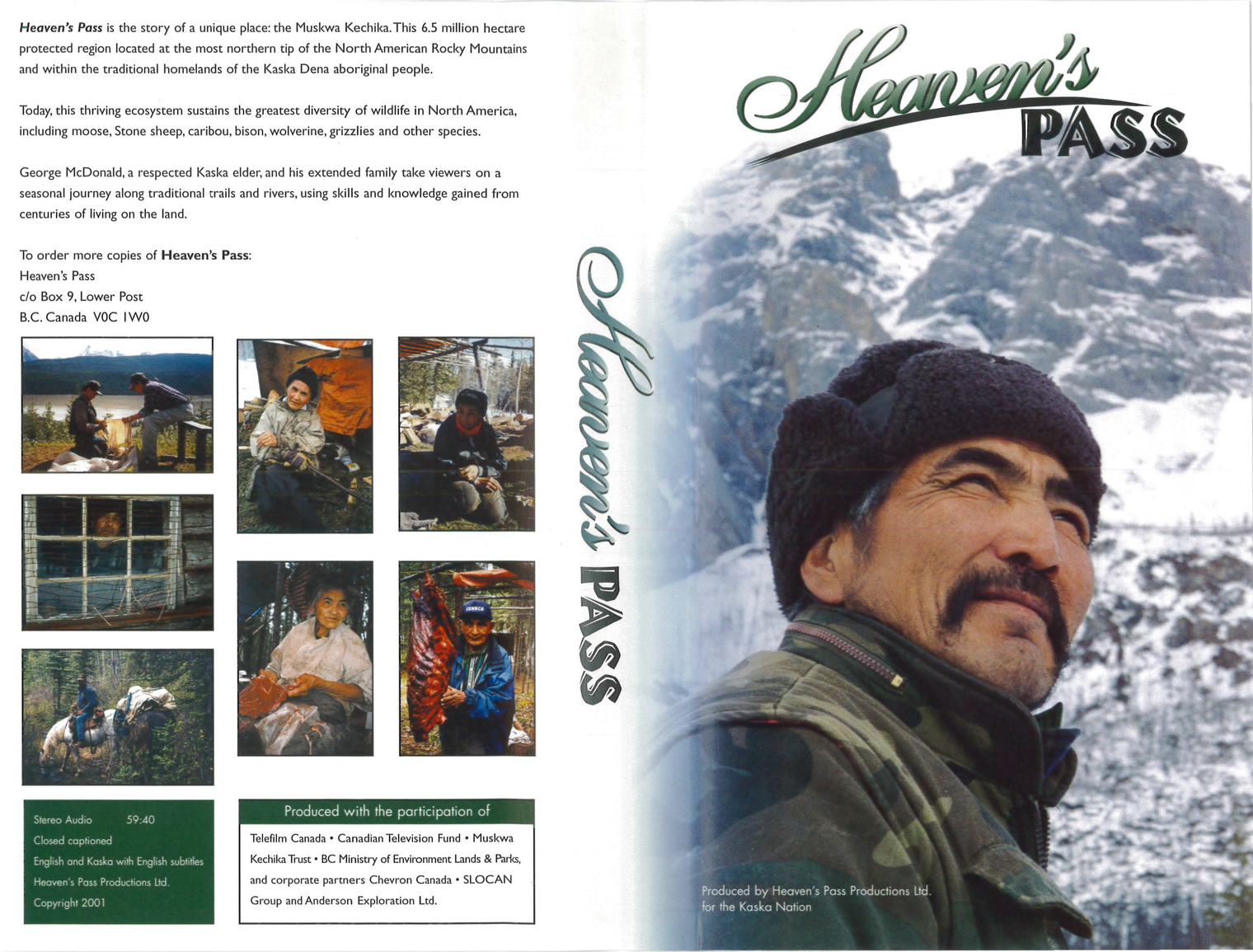 Heaven's Pass Kaska Documentary Now Available in DVD