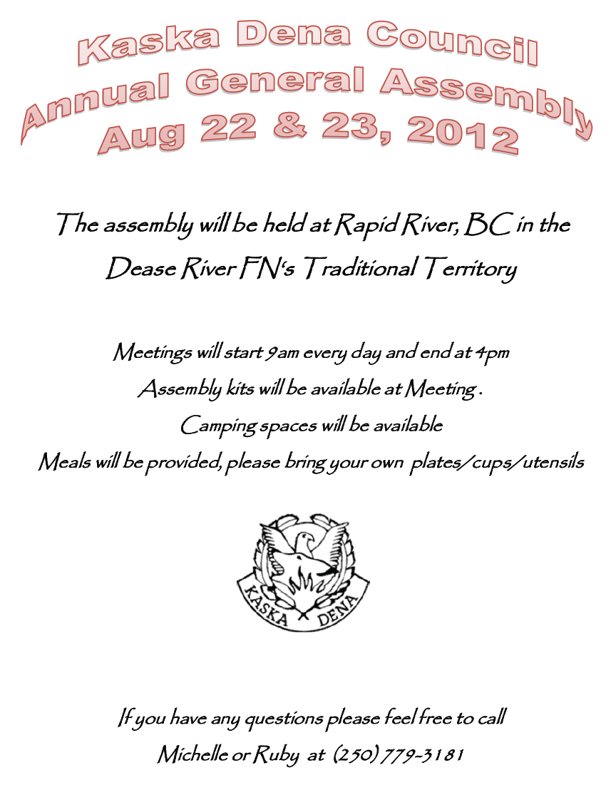 KDC General Assembly 2012 poster