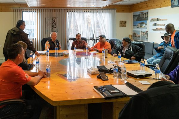 Premier Travels to Lower Post to Meet with First Nations, Visits Former Residential School, Oct 2019—Premier Horgan meeting with Daylu Dena Council and Kaska representatives