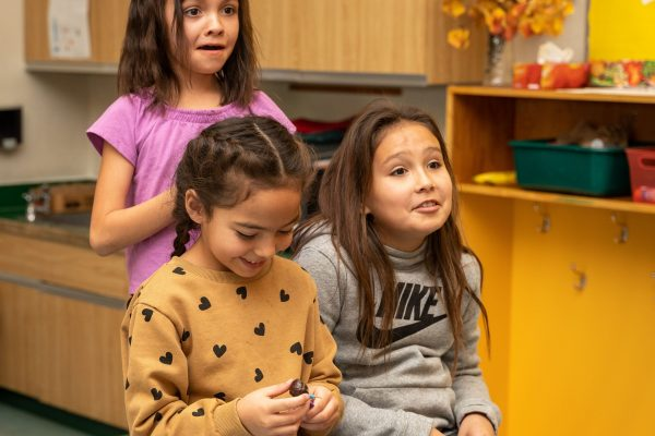 Premier Travels to Lower Post to Meet with First Nations, Visits Former Residential School, Oct 2019—Students at Denetia School, Lower Post